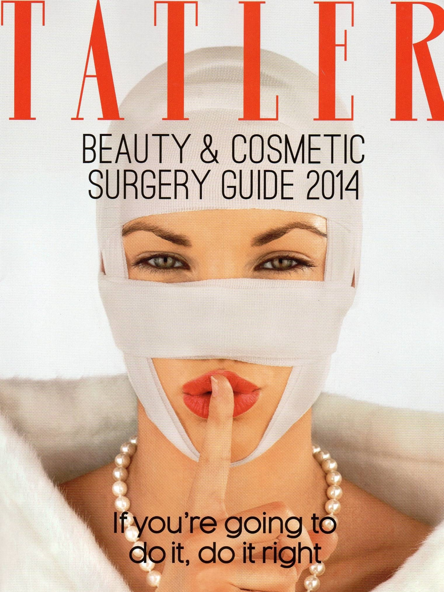 Tatler Beauty & Cosmetic Surgery Guide 2014 - Dr Kremer top for facelifts